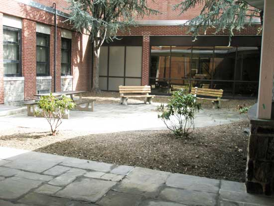 Before - Courtyard at a Private School in Bergen County